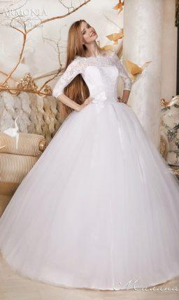 Недорогое пышное платье