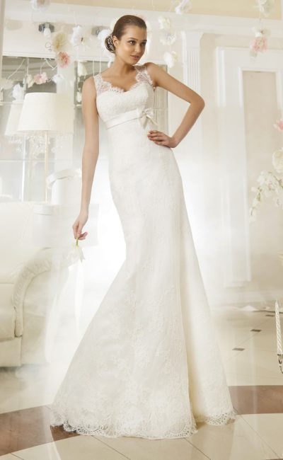 Платье «рыбка» с бантом