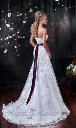 Кружевное свадебное платье с юбкой «рыбка»