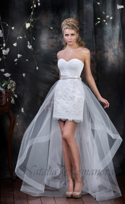 Короткое свадебное платье «футляр»