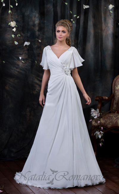 Свадебное платье ретро в стиле 80-х