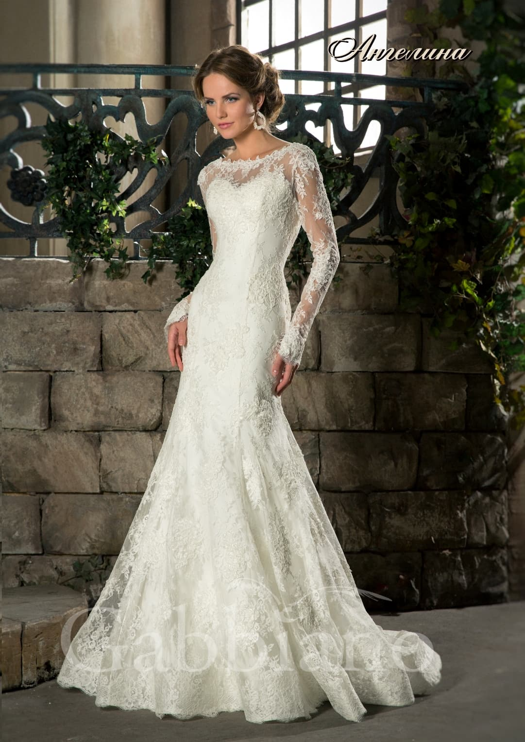Свадебные платья рыбкой с рукавами