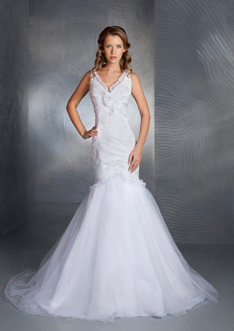 Свадебное недорогое платье русалка