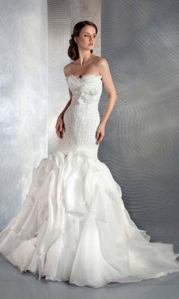 свадебное платье «рыбка»