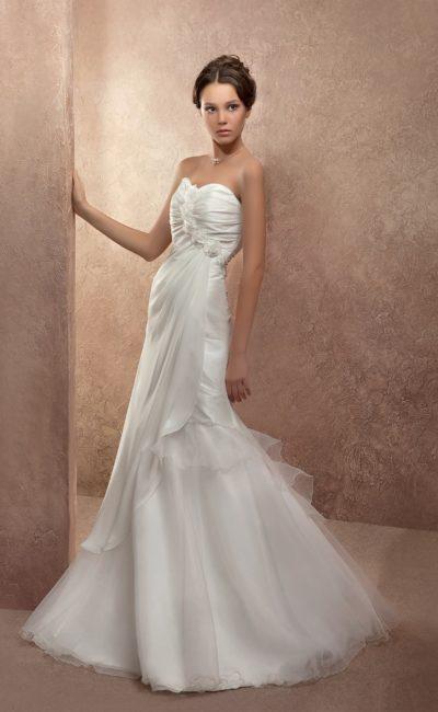 Недорогое свадебное платье русалка
