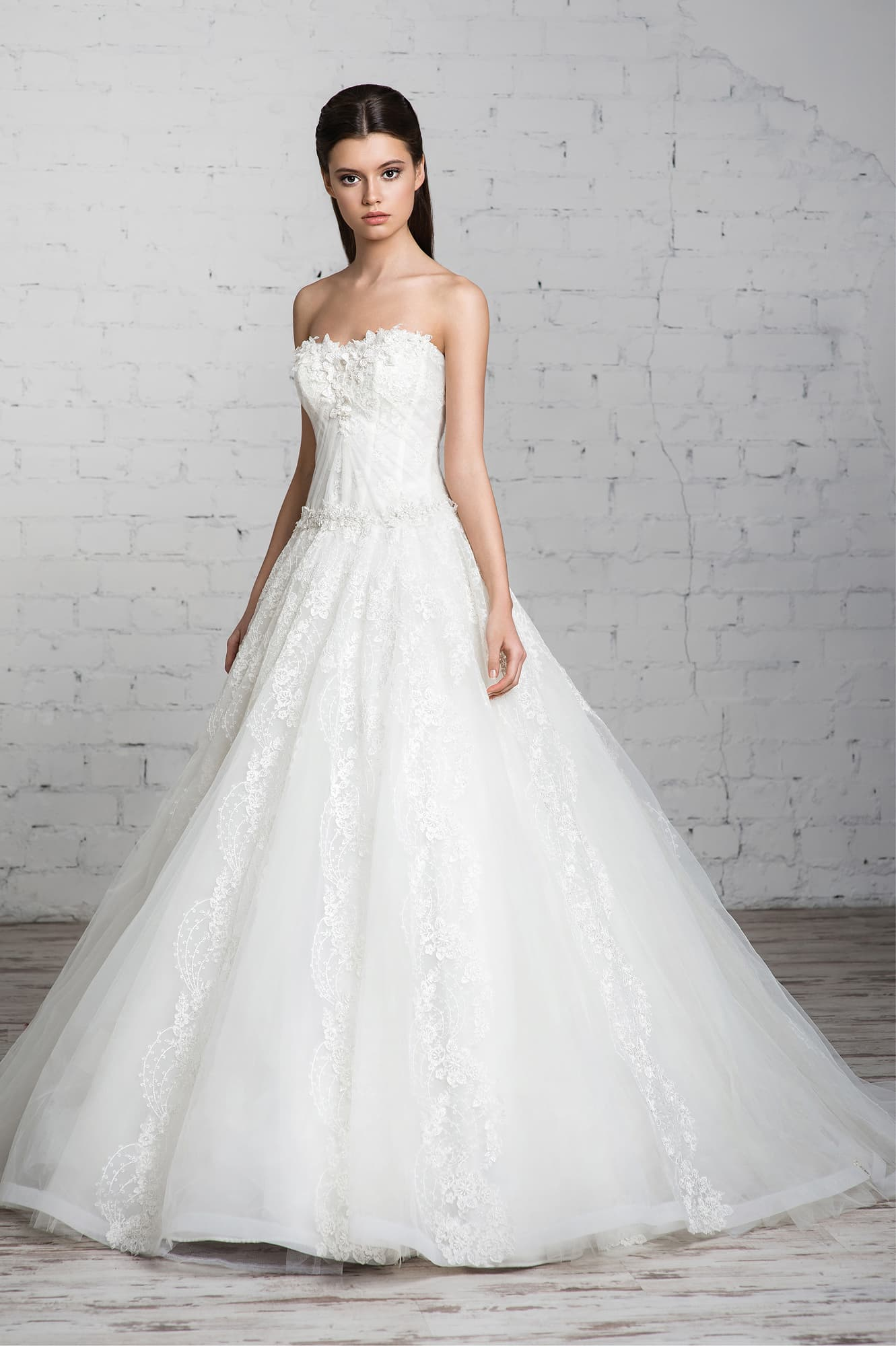 Свадебные платья модель а силуэт