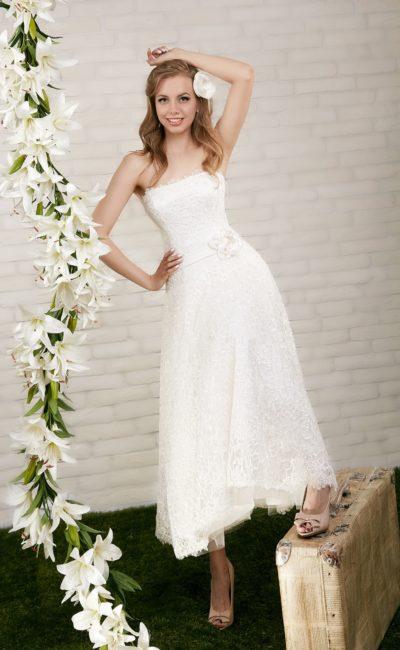 """свадебное платье """"чайной длины"""""""