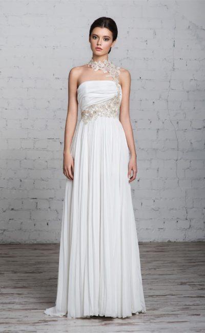 Свадебное платье силуэта «ампир»