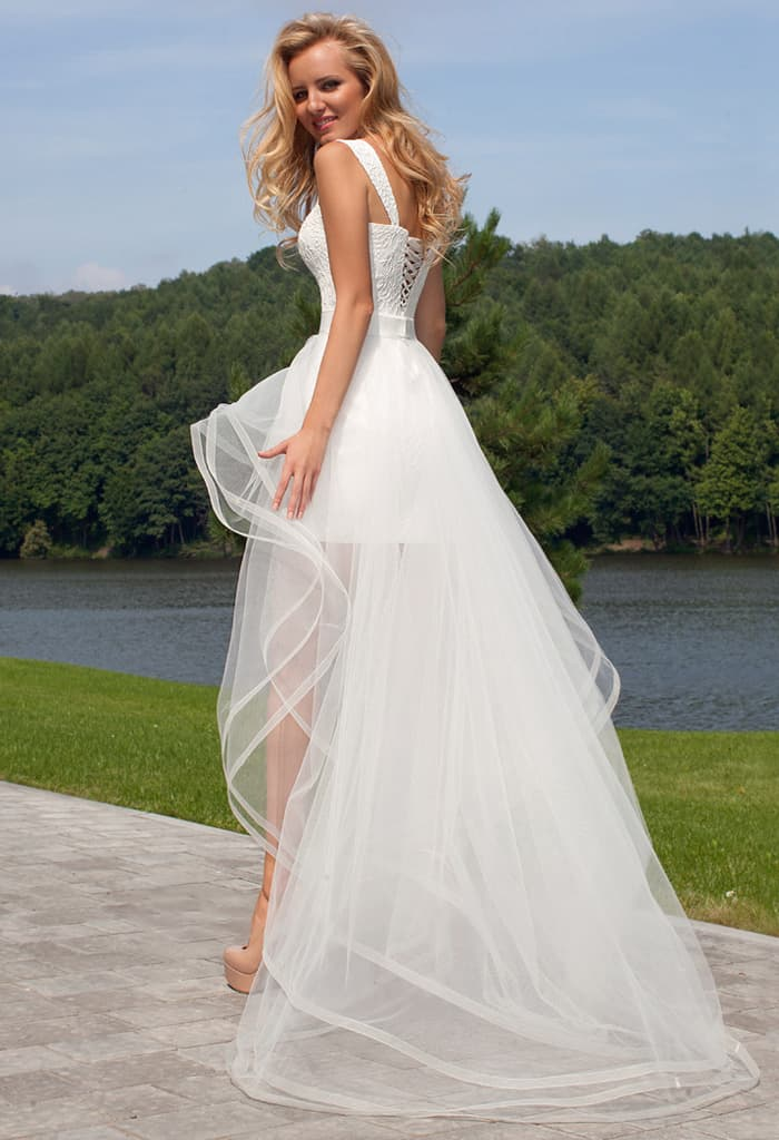 Оксана муха короткое свадебное платье