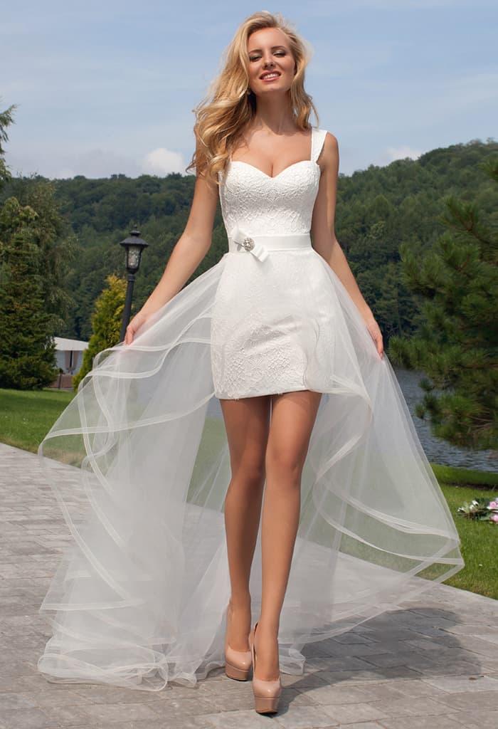 Прозрачные юбки невесты 13