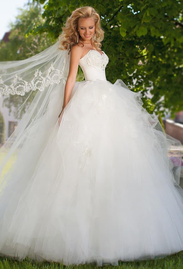 свадебные пышные платья 2016 фото новинки