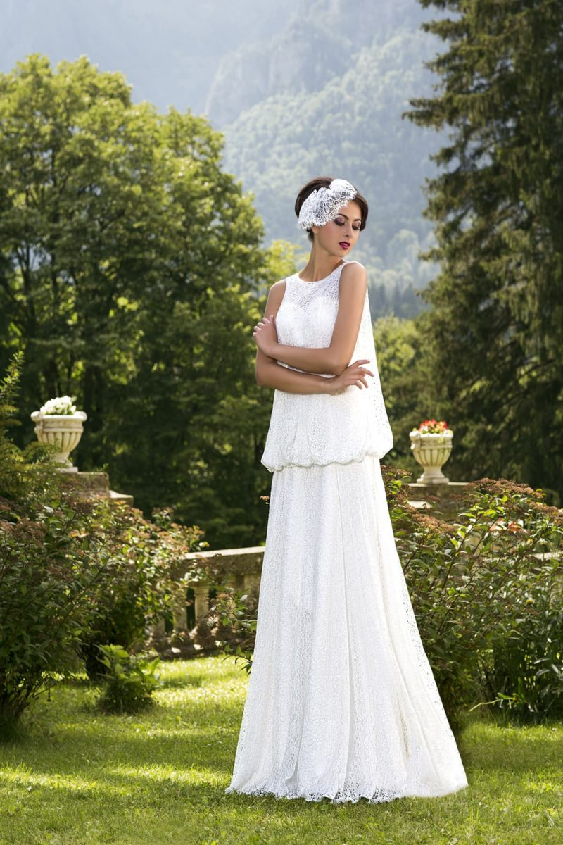Свадебное платье ретро в стиле 20-х