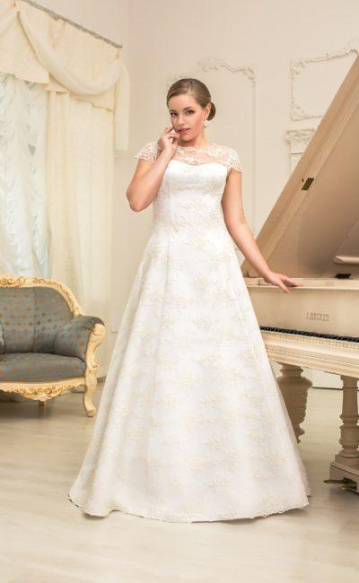 Свадебное платье на полную девушку