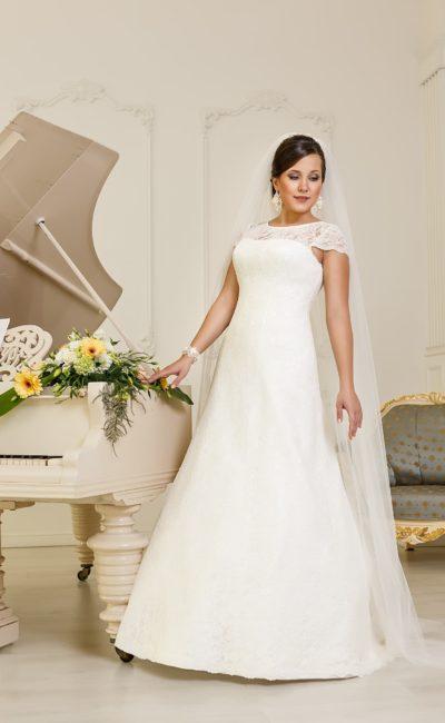 Свадебное платье на полных невест