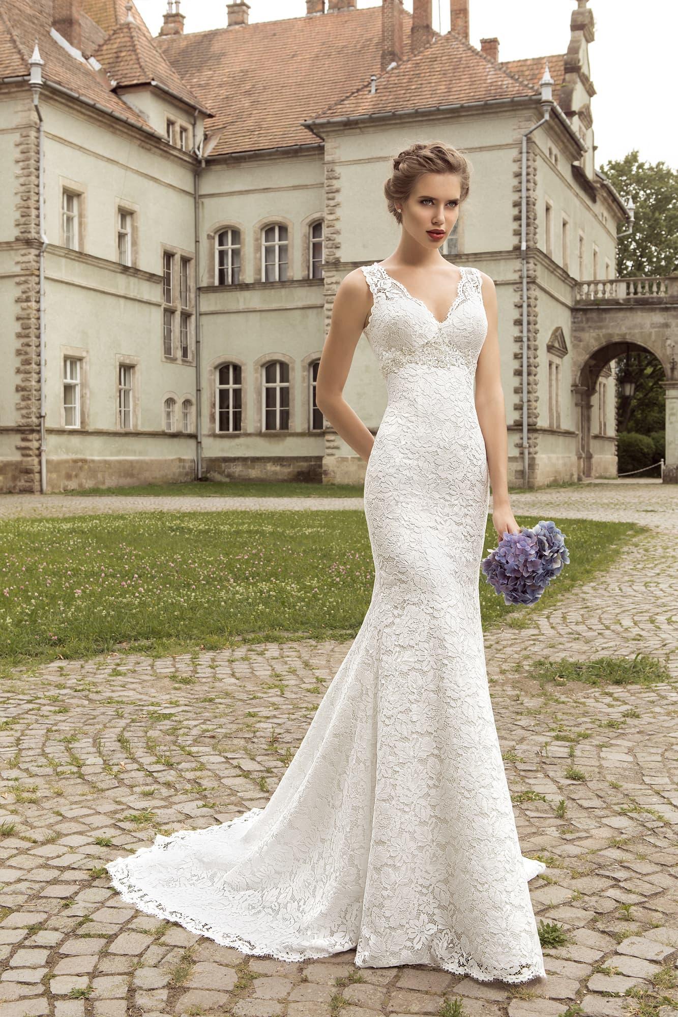 Силуэт рыбка свадебное платье