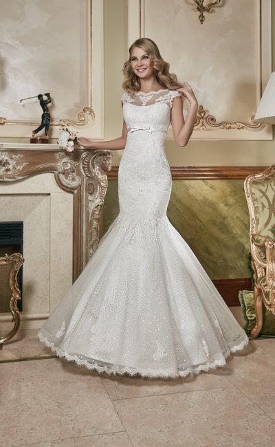 Недорогое свадебное платье рыбка