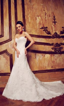 свадебное платье с открытым лифом