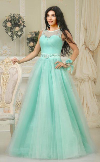 Свадебное платье бирюзового оттенка