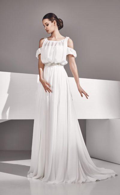 Свадебное платье с ампирным силуэтом
