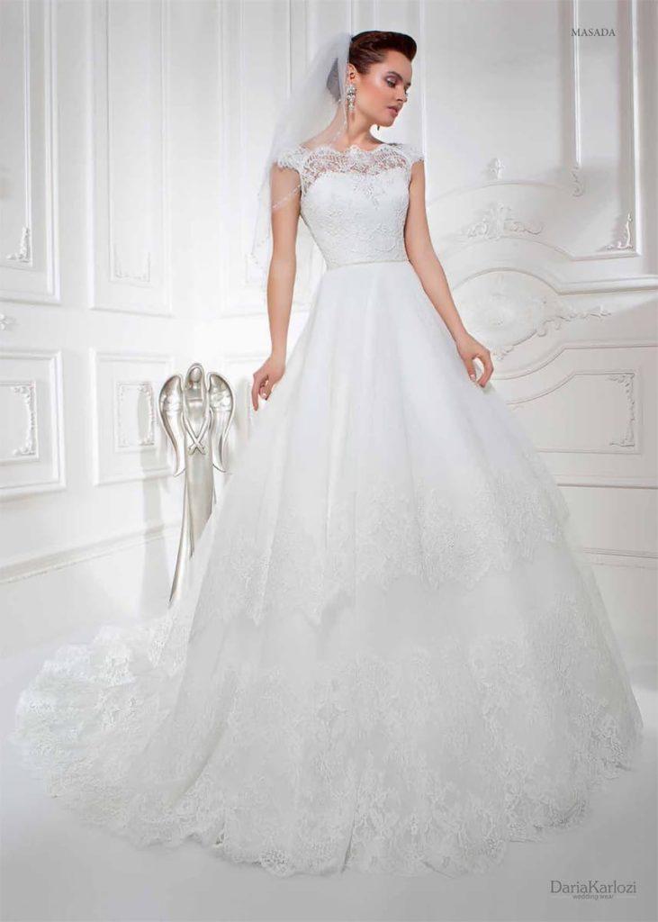 Пышное свадебное  со шлейфом 2016