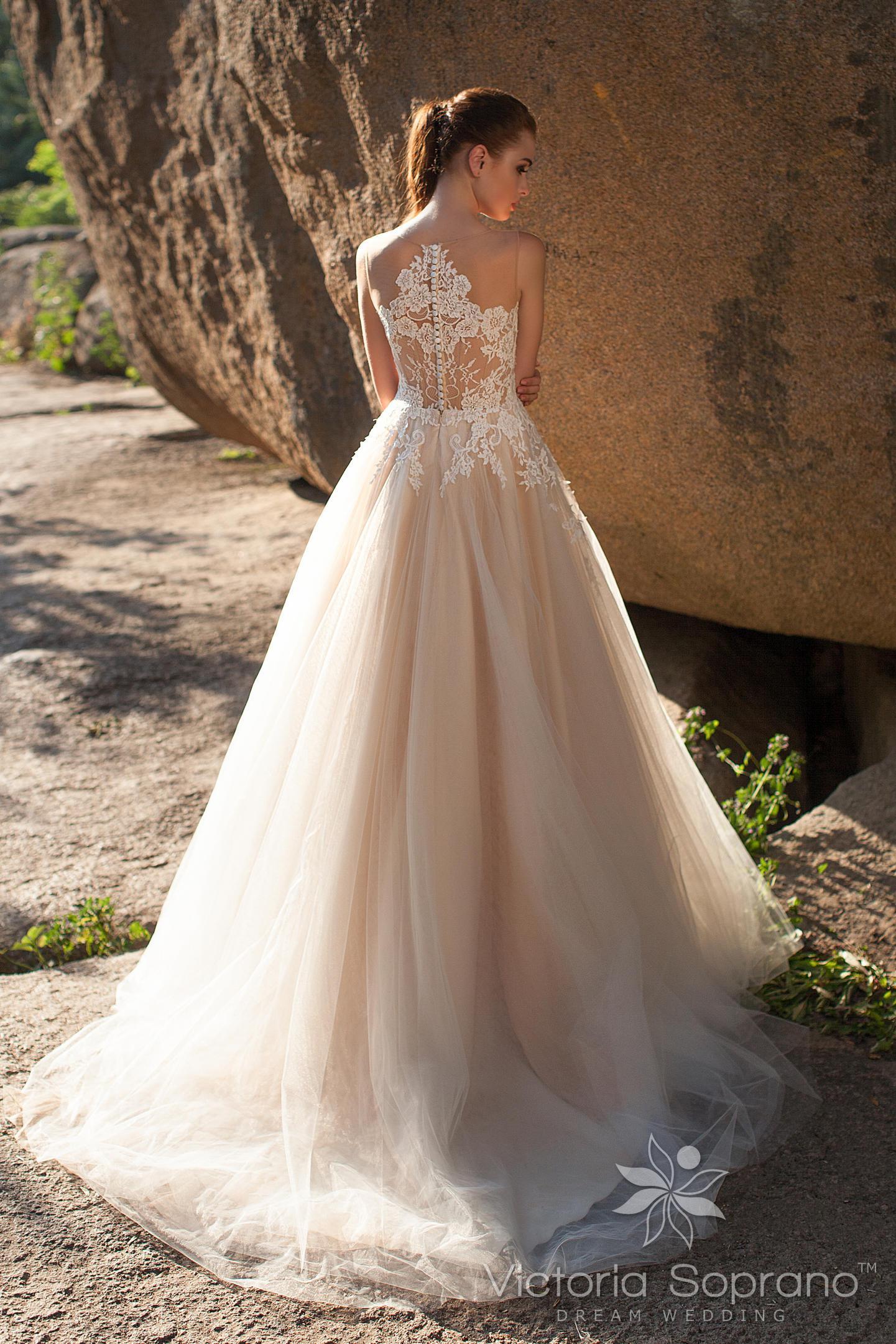 Свадебные платья цвет кремовый