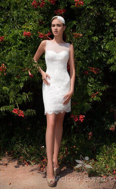 свадебное платье длиной до середины бедра