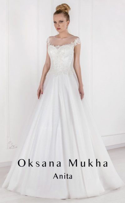 свадебное платье с вырезом на спинке