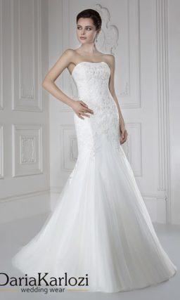 свадебное платье с прозрачным болеро