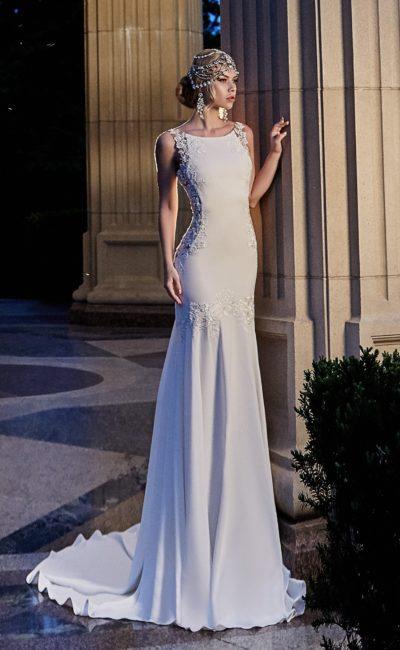 Свадебное платье в стиле ампир (71 фото) кружево с рукавами