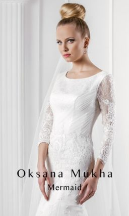 Эксцентричное свадебное платье «рыбка»