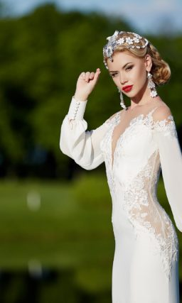 Платье в стиле бохо с рукавами