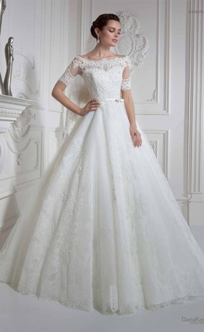 Свадебные платья прямой вырез
