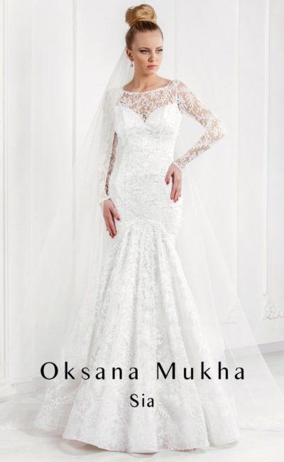 свадебное платье с облегающим силуэтом «рыбка»
