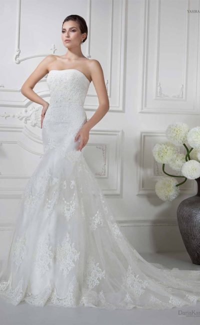Свадебное платье «рыбка» с болеро