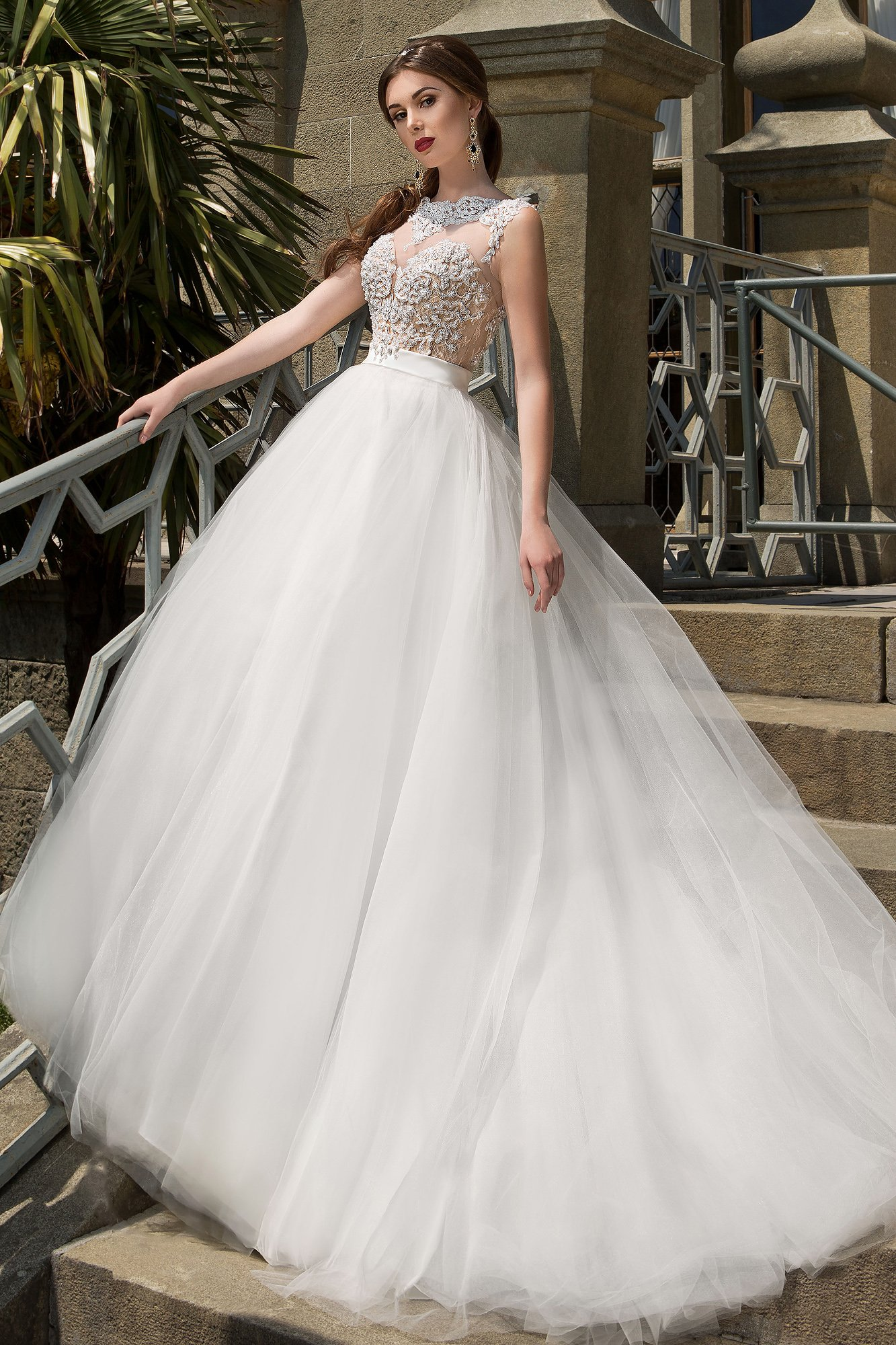 b3142ee3189 Свадебное платье с многослойной юбкой Gabbiano Бирутта. Купить ...