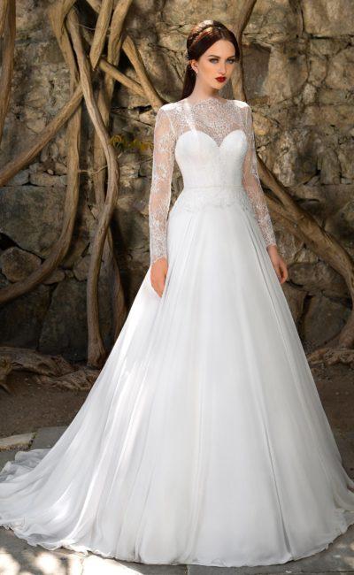 Свадебное платье с закрытым лифом