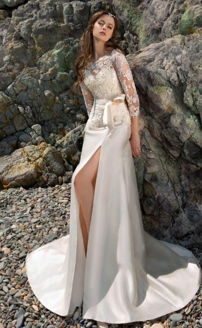 Свадебное платье «рыбка» с длинным шлейфом