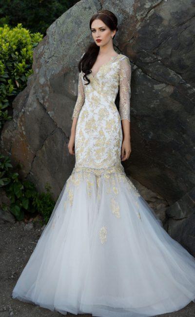 Роскошное свадебное платье рыбка