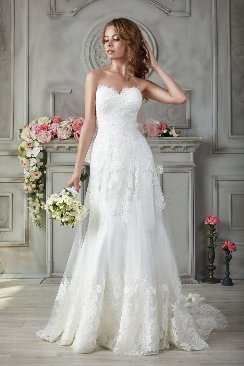свадебное платье с силуэтом в ампирном стиле
