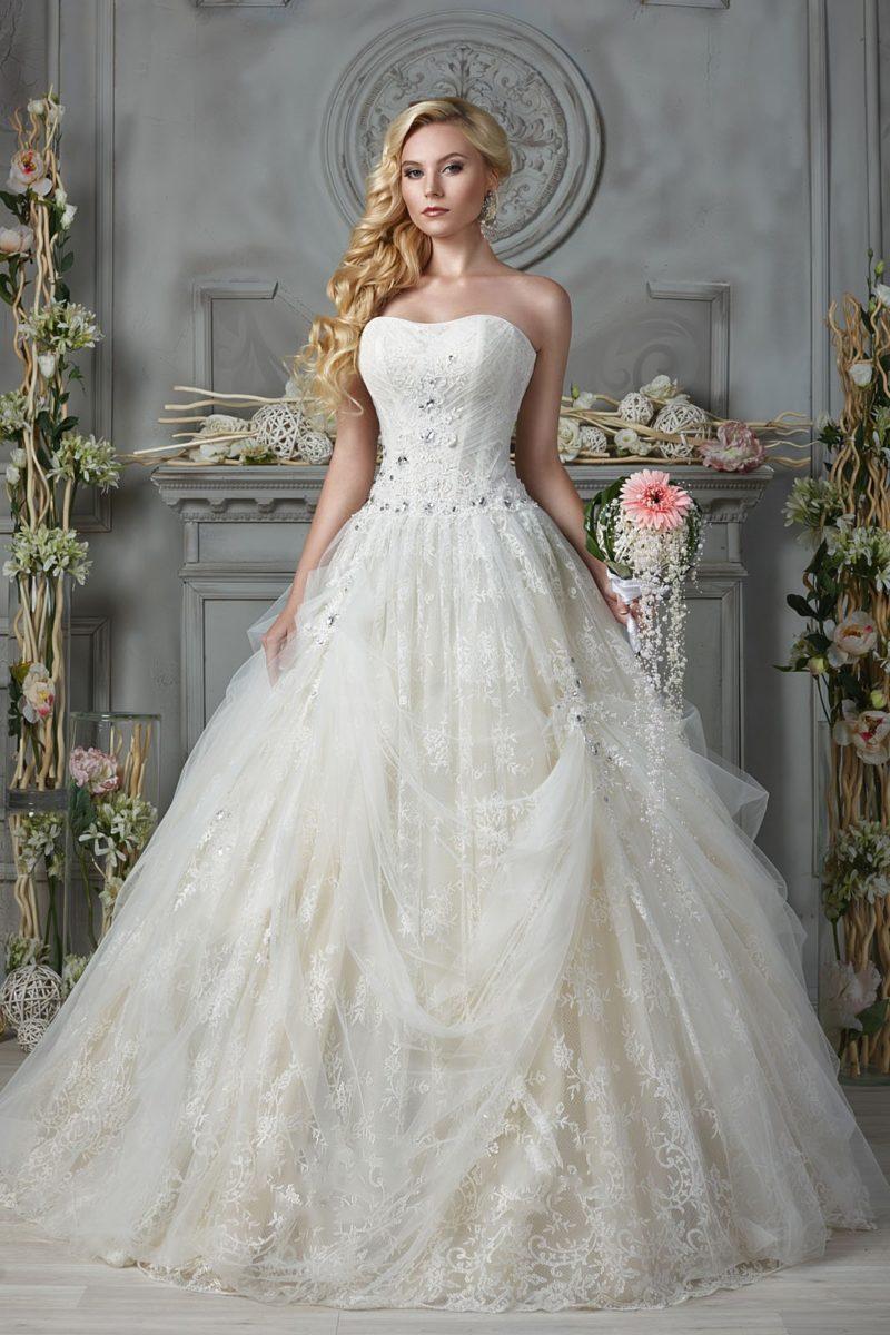 свадебное платье цвета слоновой кости