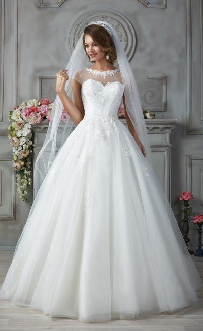 Свадебное платье с оригинальным лифом