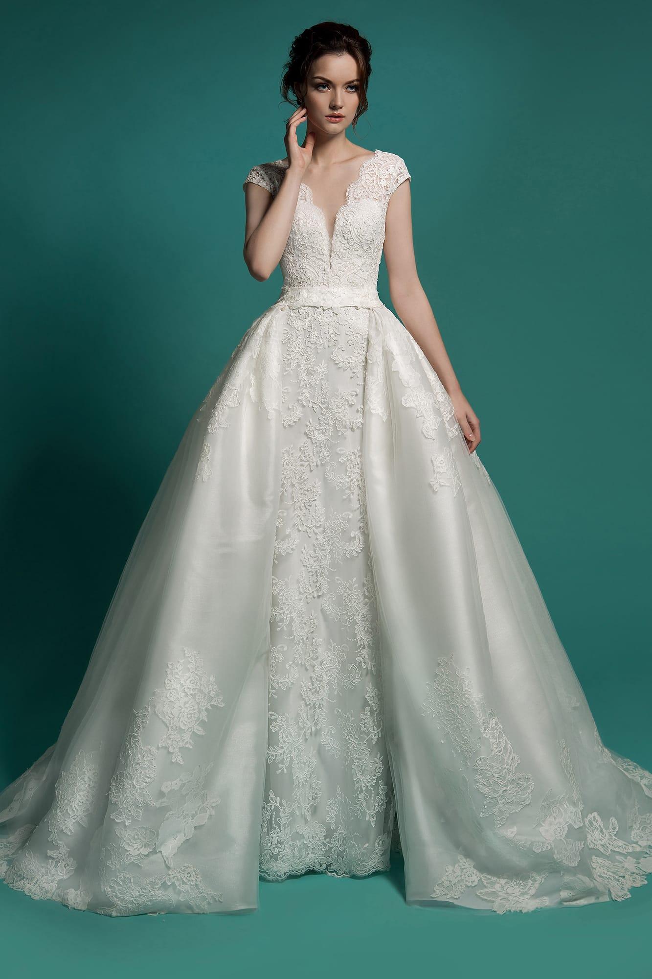 92139f2b9ee757 Свадебное платье «два-в-одном» Gabbiano Lynetta. Купить свадебное ...