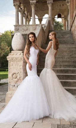 Кокетливое свадебное платье «рыбка»