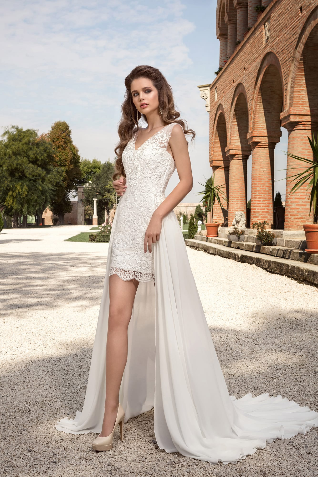 d64101747cf Короткое платье с отделкой из кружева Armonia Narnia. Купить ...