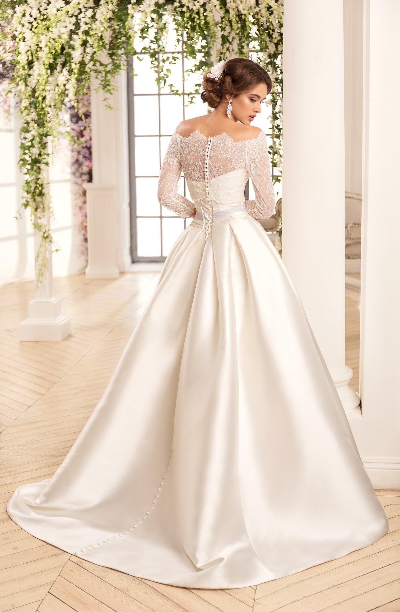 Свадебное платье нави блю