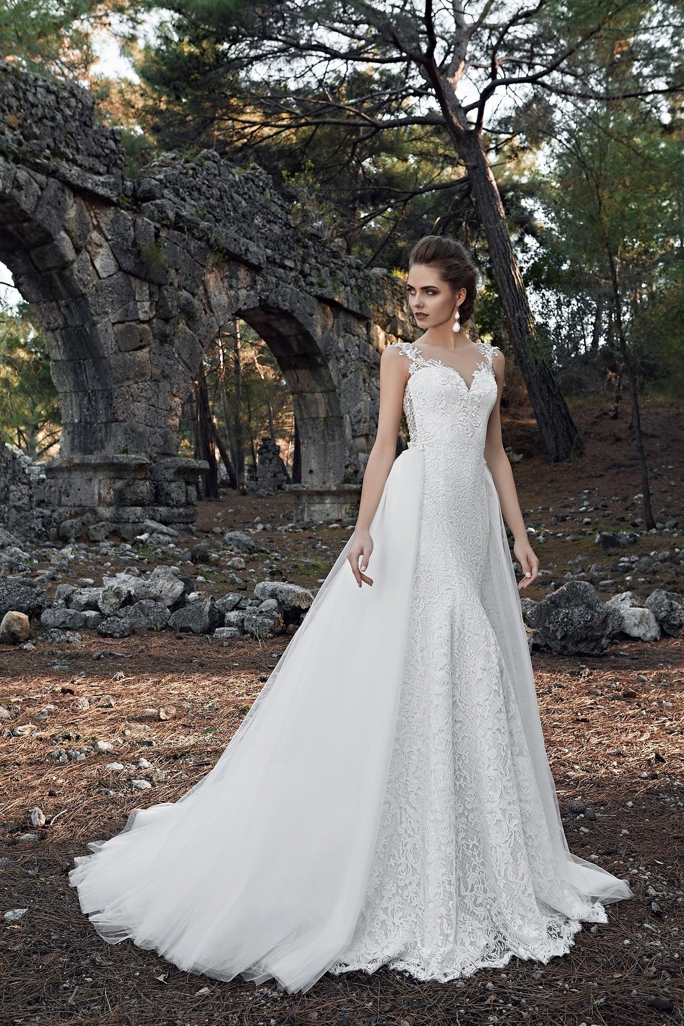 Свадебное платье океан