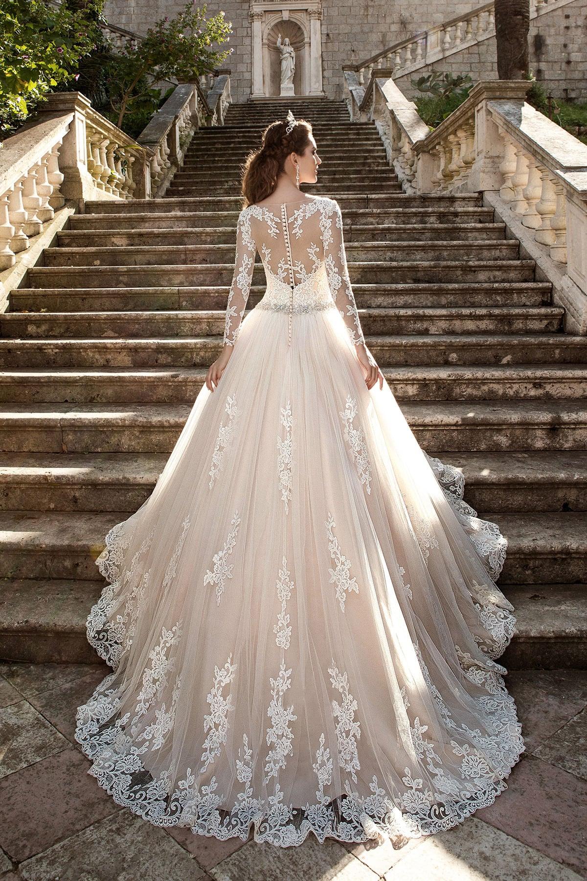 Пышное Свадебные Платья С Закрытой Спиной