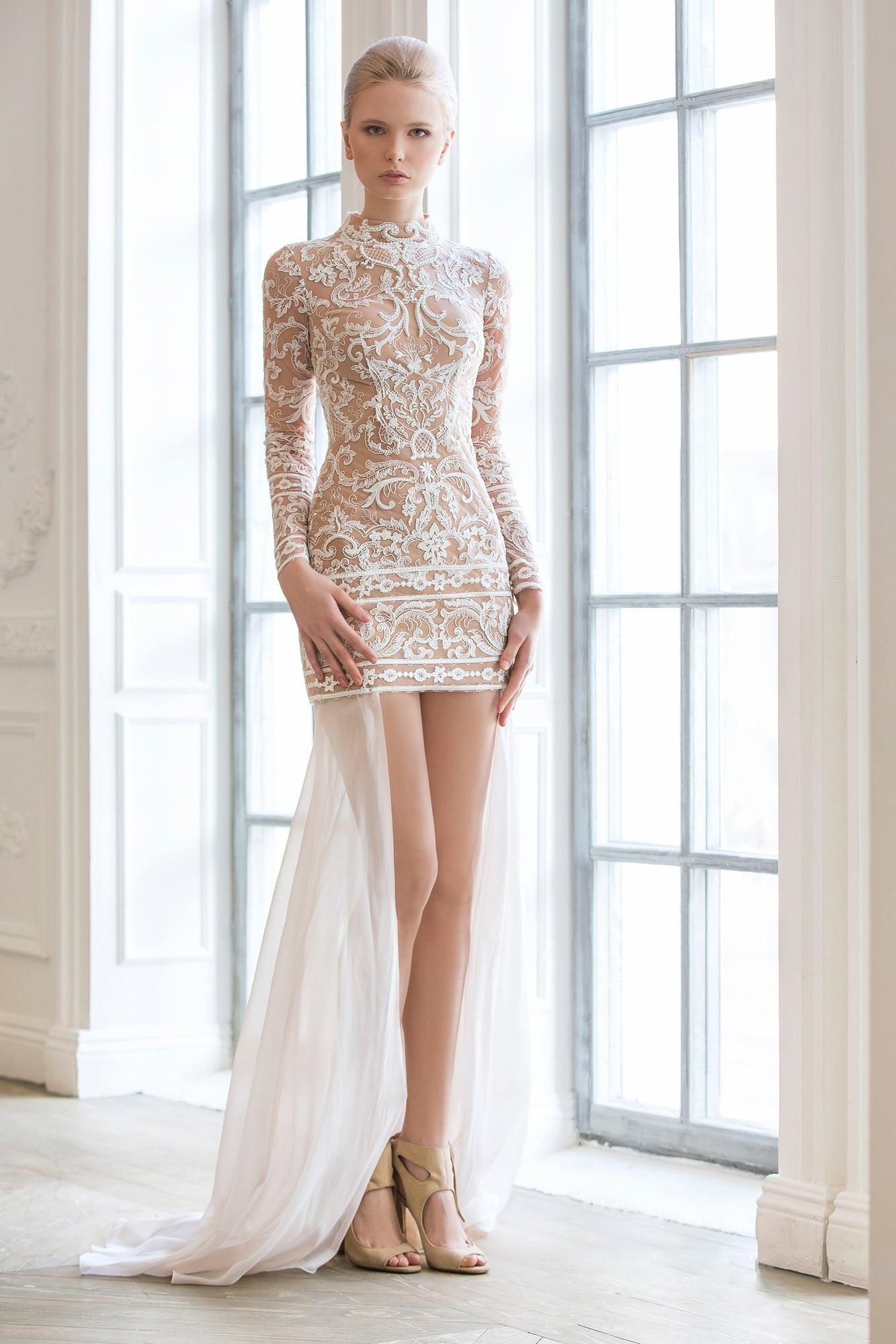 087a23807b4 Короткое красивое кружевное платье Strekkoza Марин. Купить свадебное ...