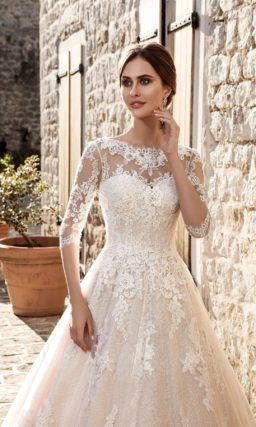 Роскошное золотое свадебное платье