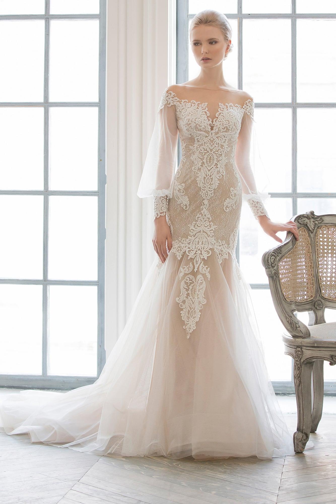 Широкие юбки свадебных платьев